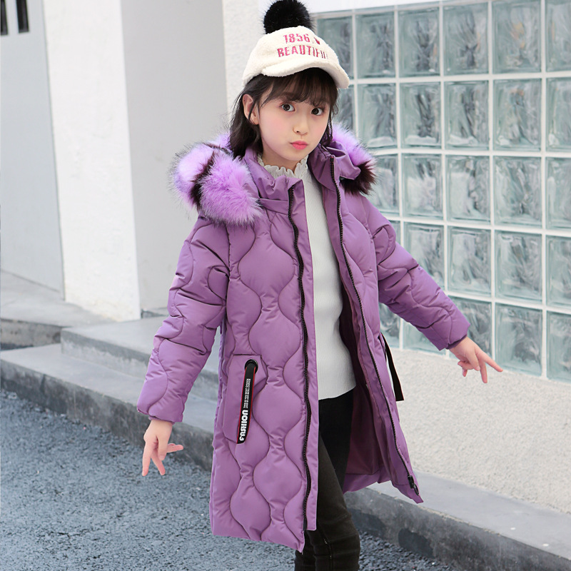 Jacket For Girls Winter Fur Hooded Girl Jackets Solid Kids Outerwear Autumn Teen Clothing For Girls 6 8 12 Years Christmas Gift winter girls long denim jacket plus parka teen girl fur collar 2018 hooded coat autumn kids thicken outerwear 4 6 8 10 12 years