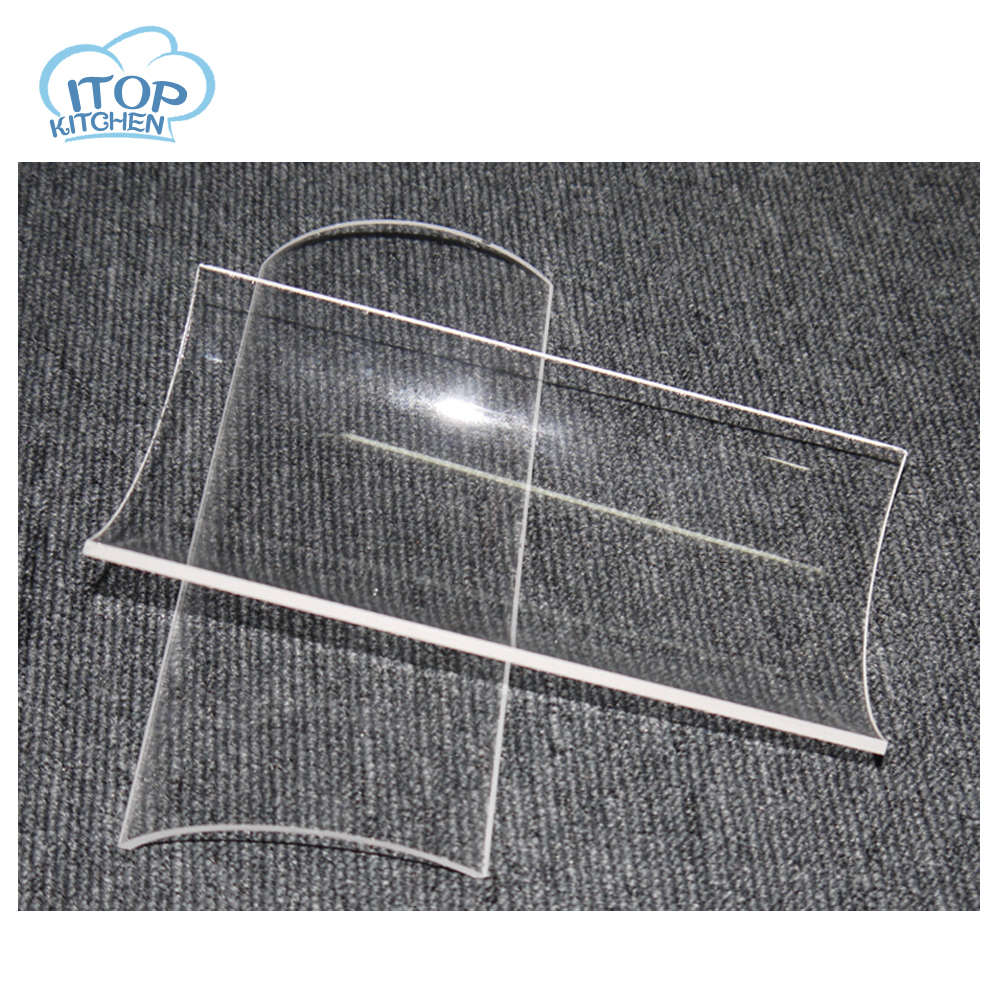 2pcs BBQ Covers Glass Accessories Easily Cleaned Heat Resistance for Barbecue Grill