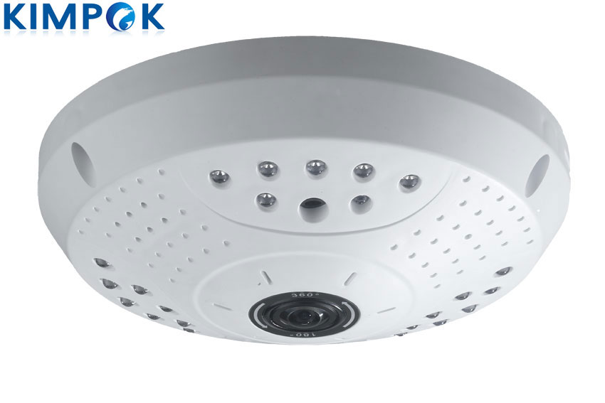 High Quality 1.3 Megapixel Fisheye IP Security Camera 360 Degree View Angle 1/3 CMOS, 360 Panorama Dome Surveillance Camera