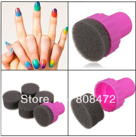 Gradual Change Sponge New Fashion Sponge Konad Nail Art Set Stamping