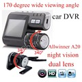 Dual Lens Car Camera I1000 Car DVR Camera HD 1080P Dash Cam with rear camera Vehicle View Car Recorder 170 degree wide viewing
