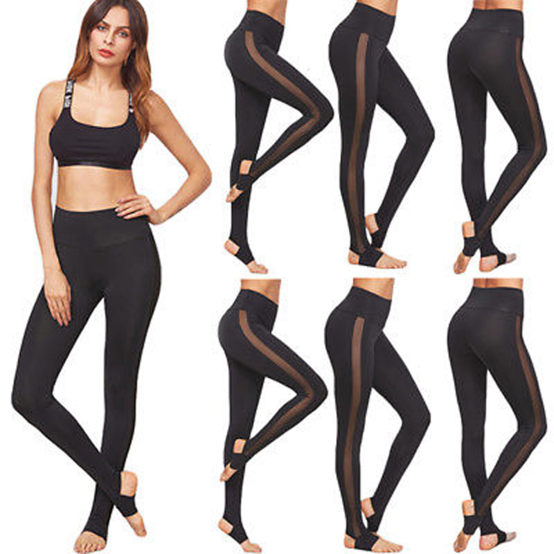leggings for women mesh splice fitness slim black legging pants plus size sportswear clothes 2017 leggings