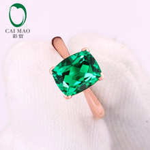 7x9mm Cushion Cut 1.89ct  Emerald  Engagement Ring Jewelry 14k White Gold Ring free shipping