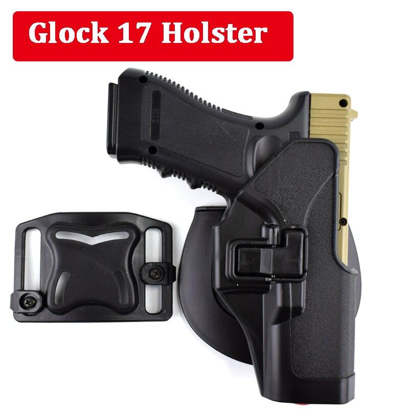 Táctico Glock 17 19 22 23 31 32 Airsoft cinturón funda pistola Glock accesorios caza arma Izquierda/ mano derecha