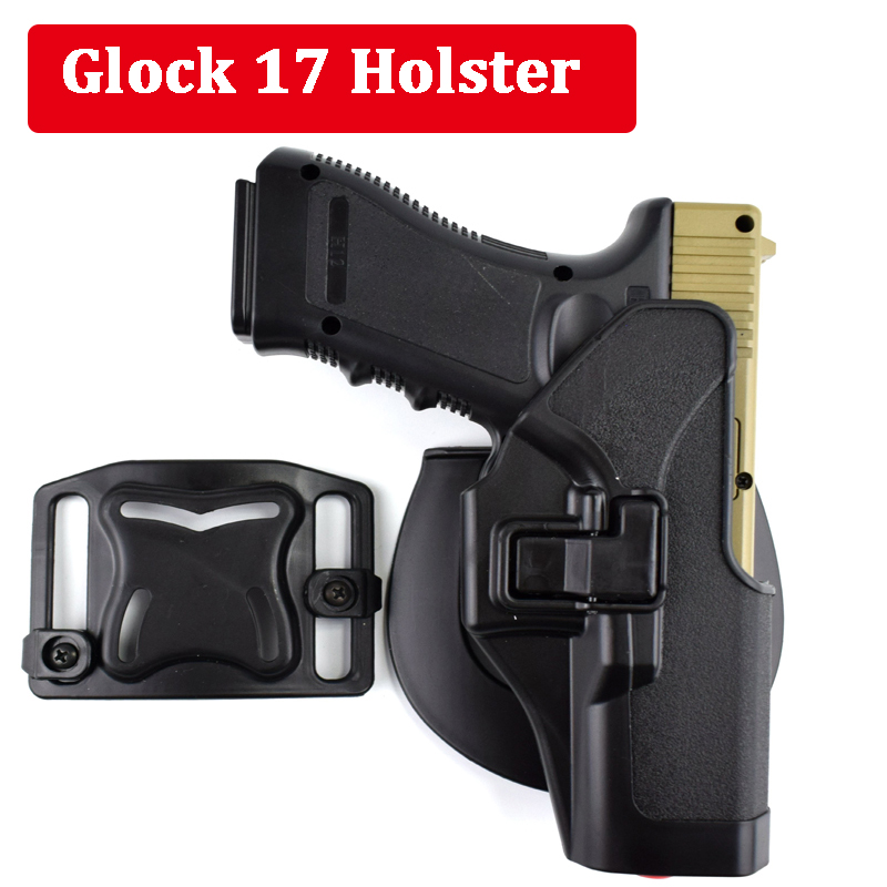 Tactical Glock 17 19 22 23 31 32 Airsoft Pistol Belt Holster Glock Pistol Accessories Gun Case Right Hand