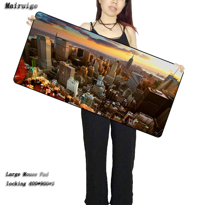 Mairuige Shop Sale Free Shipping New York City 900*400*2 Gaming Large Mouse Pad Notebook Computer Lock Edge Mouse Mat for Cs Go