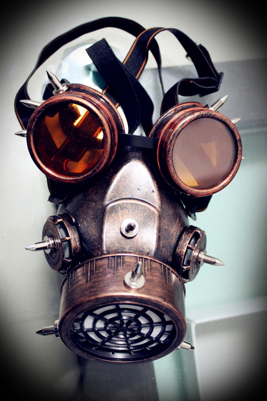 Image 3 - Steampunk Retro Glasses Gas Masks And Goggles Gothic Cos Stage  Props Personality Anti fog Haze Maskmasking definitionmask  motorcyclemask realistic