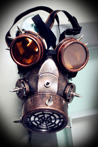 Image 3 - Steampunk Retro Glasses Gas Masks And Goggles Gothic Cos Stage Props Personality Anti fog Haze Mask