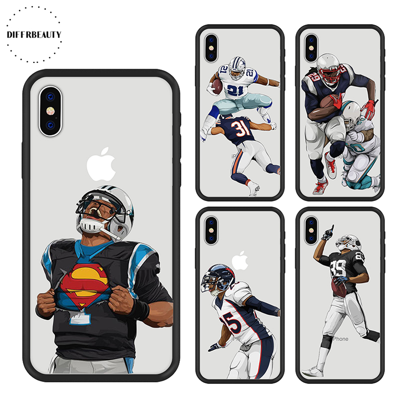 Soccer NFL Rugby Odell DIFFRBEAUT Phone Case for iPhone X American Football Player Hard Back Cover for iPhone 8 7 6s plus 5 SE