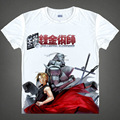 2015 Fullmetal Alchemist Steel Edward Alphonse T Shirt Cosplay Costumes Men's Japanese Famous Anime T-shirt Camisetas Masculina