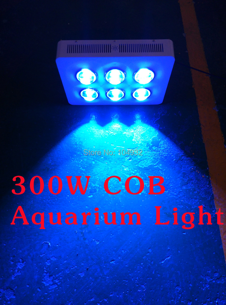 300W G3 PRO SERIES 6*50W COB LED Aquarium Light High PAR (Royal Blue Led,) reef tank /reef coral light 2 years Warranty 50w 48 led rgb light module 8 series and 6 in parallel