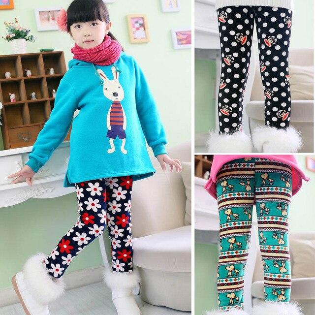 Новые приходят зимние девочек, Одежда теплые брюки детские хлопковые свободного покроя брюки, Более толстые брюки для детей