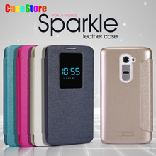 Original NILLKIN Sparkle New leather Case For LG G2 D802 phone Luxury View Window Leather PU Flip Case funda