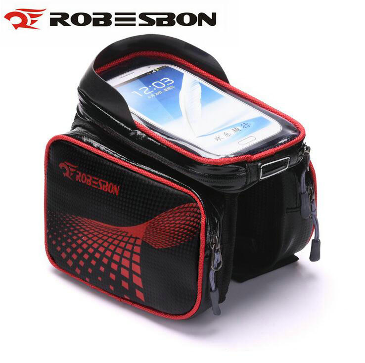 ROBESBON 6.2 Inch waterproof phone TPU touch screen bike front frame top tube cycling bag road MTB mountain bicycle accessories