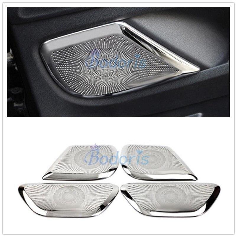Door Speaker Burmester Cover Trim 4Pcs For Benz CLA W117 2015~2018