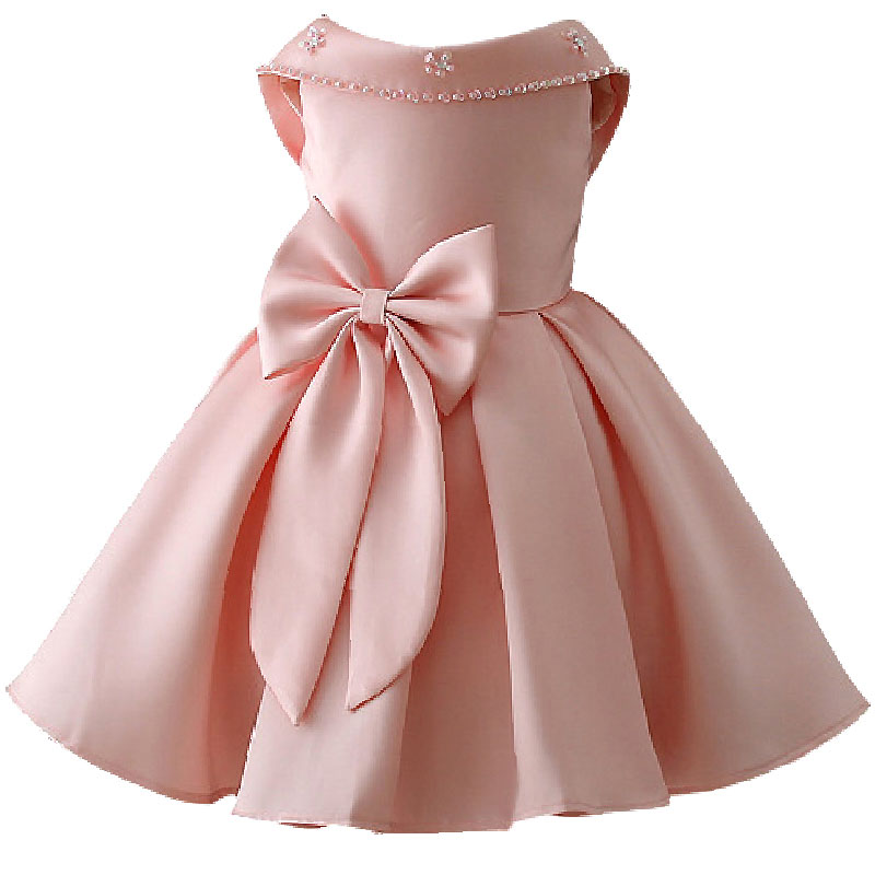 551dda332d5c9 2019 حار بيع البتلة القوس الكبير الفتيات زفاف الأميرة اللباس الطفل حزب الاطفال  ملابس للبنات الملابس