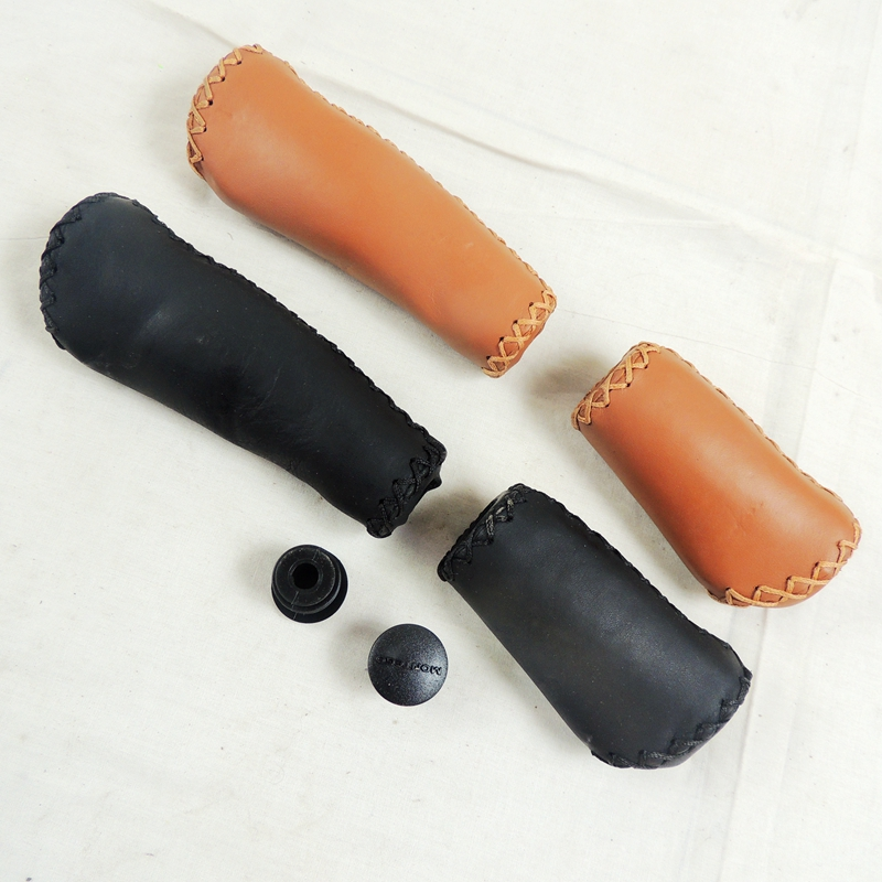 Cool Price 135mm 95mm  22.2mm Real Leather Short And Long Mtb Folding Bike Grips