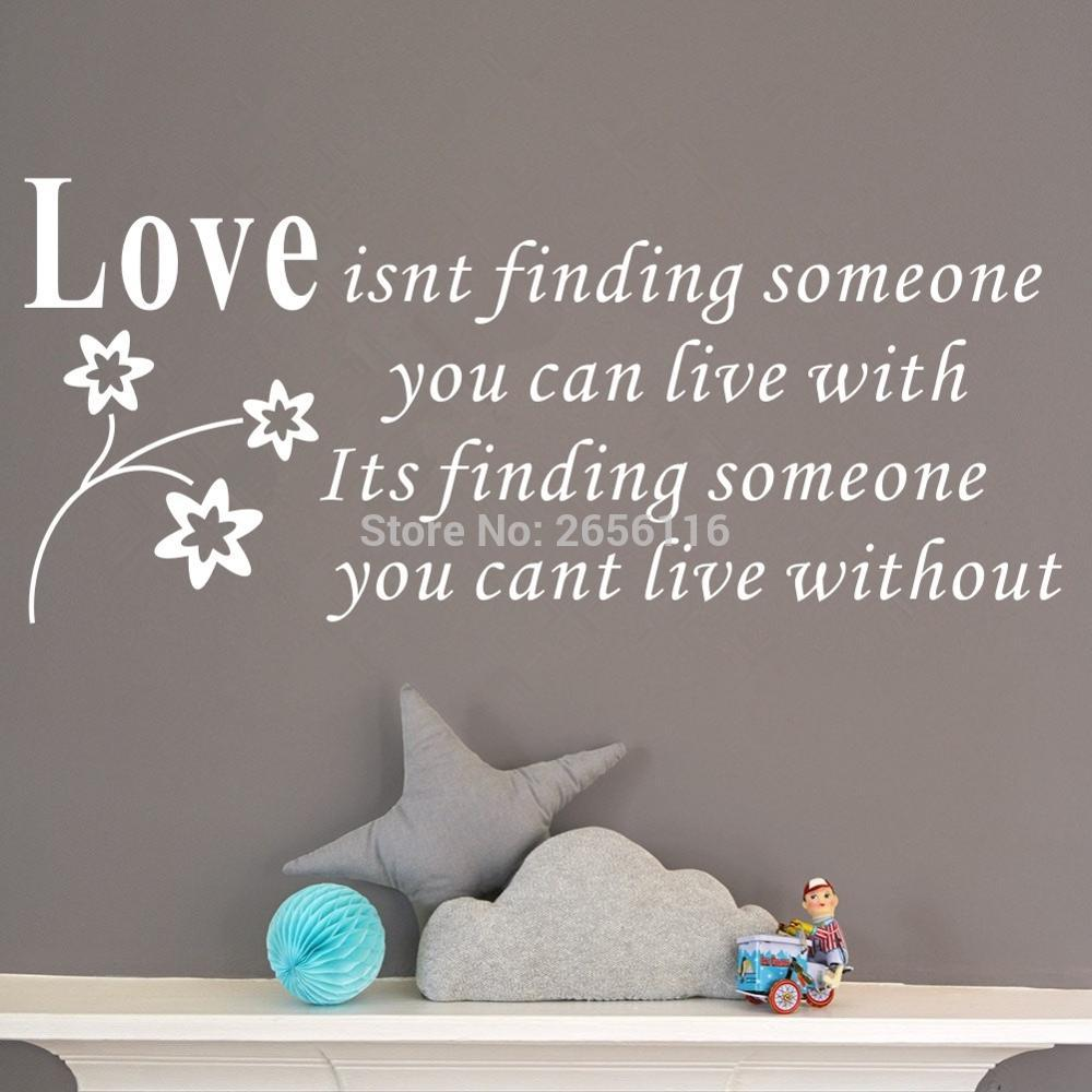 compare prices on classic love quotes online shopping buy low love quotes wall stickers is not finding someone you can live with vinyl art decals for