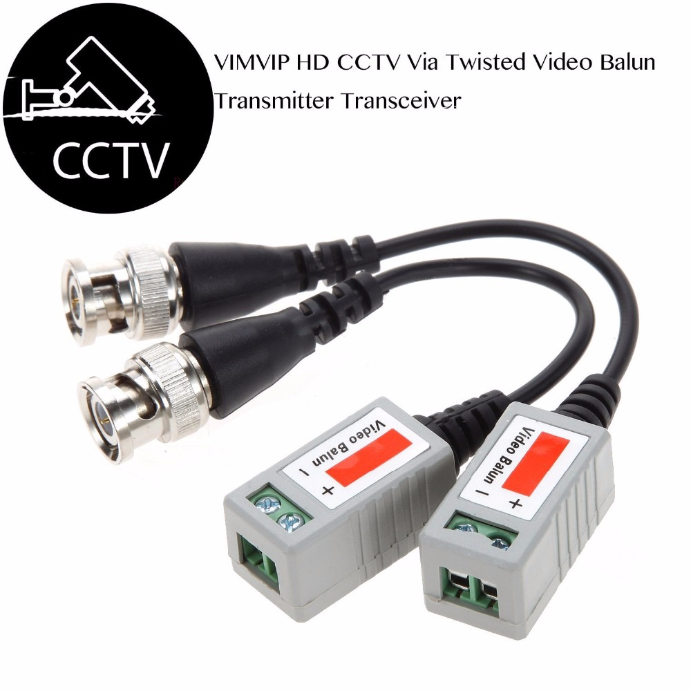 New 10 PCS (5Pairs) Video Balun 720P 1080P HD HDCVI/HDTVI/AHD Camera Passive Video Balun BNC Connector Coaxial Cable Adapter