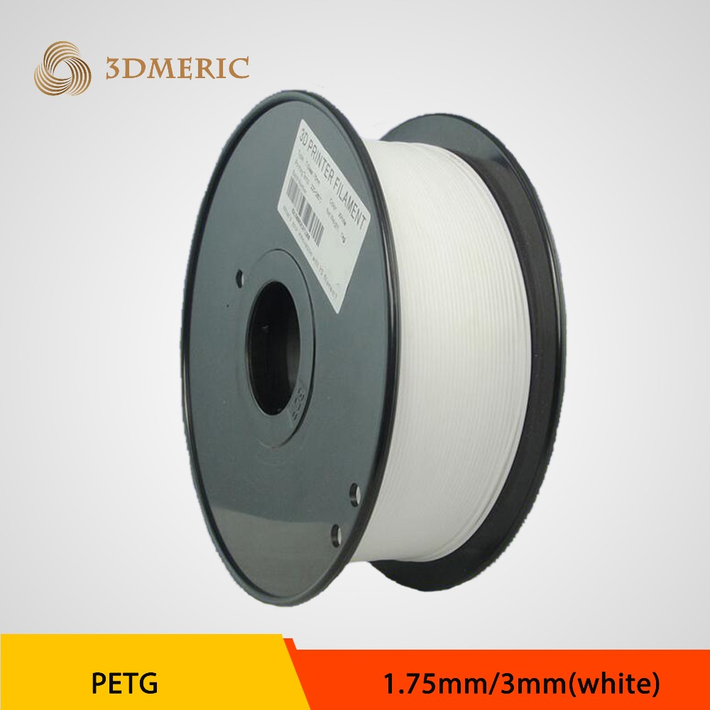 1.75mm PETG Filament white color used with desk or industrial printer 3D DIY