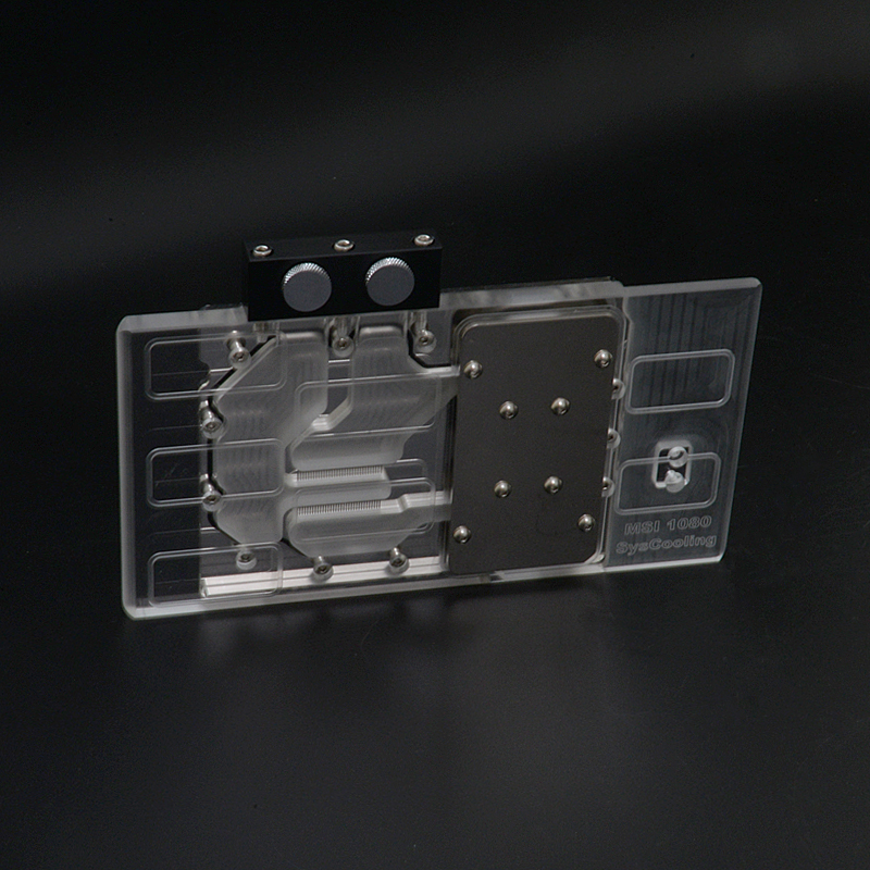 Syscooling 1080 full coverage gpu water block for computer vga image