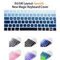 Испанские Письма Макет ЕС Беспроводная клавиатура Наклейки для Apple Новый Магия Клавиатура 2 Выпуска в 2015 году Клавиатура кожных Покровов