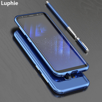 LUPHIE For Samsung Galaxy S8 Case Cover Luxury Slim Hard Metal Aluminum Protective Bumper Phone Case