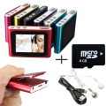 4GB 1.8 Inch screen Clip FM Radio Mp3 Player Support 32GB Micro SD/TF Including Headphone Mini USB Cable