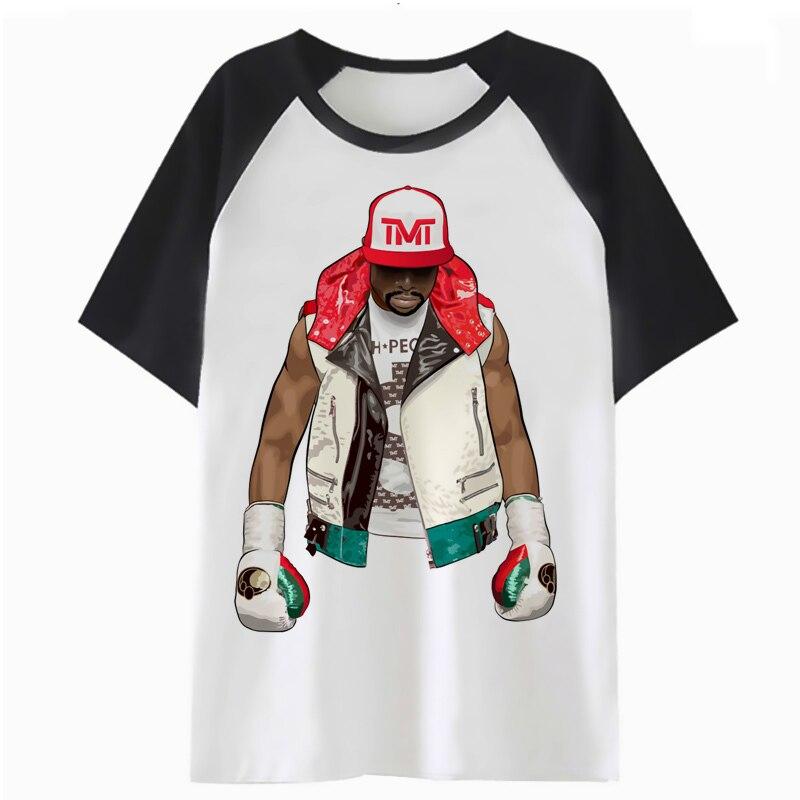 Floyd mayweather t-shirt hop vêtements t-shirt drôle hommes pour tee t-shirt mâle top harajuku streetwear hanche F2353
