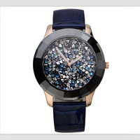 Melissa Classic Designer Starry Starry Night Stars Watches for Women Big Size Crystals Watch Ceramic Frame Leather Montre Femme