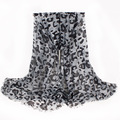 Famous Brand Women Scarf Leopard Classic Design With Tassel Warm Winter Polyester Shawl Size 180*70cm No.12020