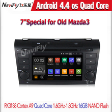 Head unit 1024X600 Android 4.4.4 Quad Core Car DVD Player GPS Radio MAZDA3 MAZDA 3 2004 2005 2006 2007 2008 2009 Touch Screen