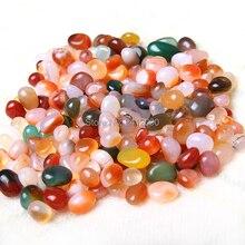 100 pcs Natural Agate Stone Onyx Crystal Reiki Healing Chakra Stone Craft Gift Decorative Marble Pebble Stone Garden Decoration