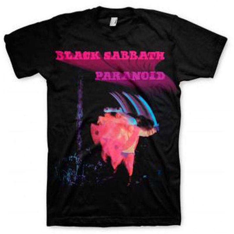 2018 besten T-shirts Neue Black Sabbath Bewegung Trails Paranoider Album Hemd (S,...