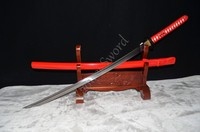 Japoński Handmade 1095 Stal Węglowa Samurai Katana Full Tang Ostrza Czarne Tsuba hurtownia Ostry Może Ciąć Bambusy