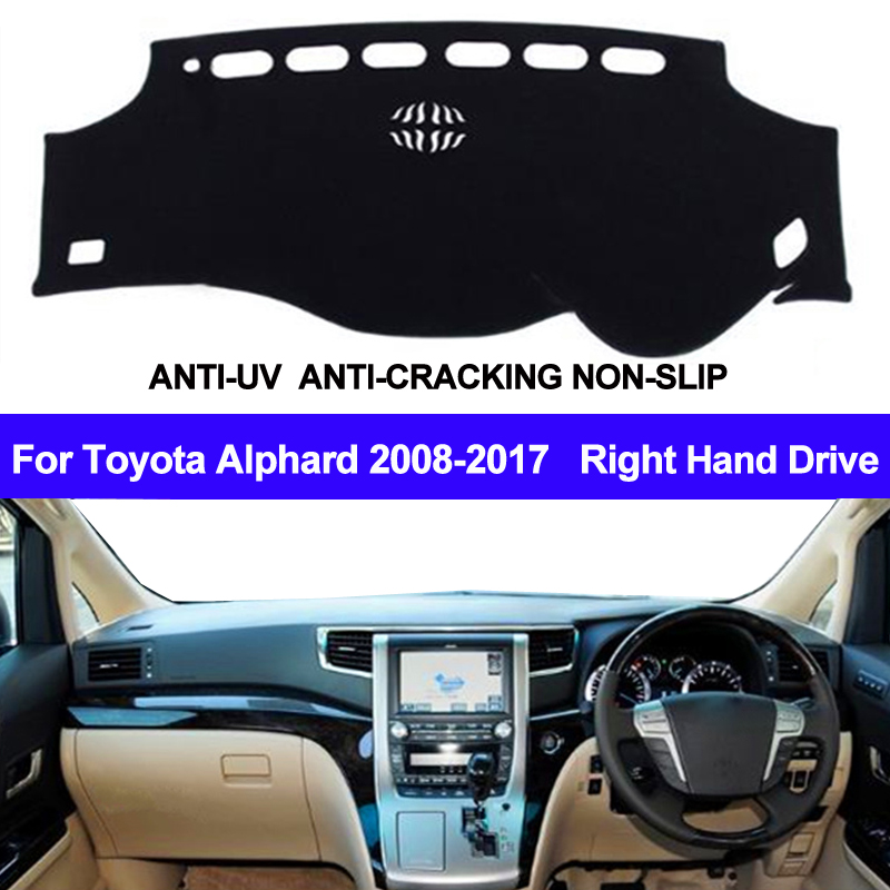 Car Dashboard Cover Dash Mat For Toyota Alphard 2008 2009 2010 2011 2012 2013 2014 2015 2016 2017 Non-slip Sun Shade DashMat