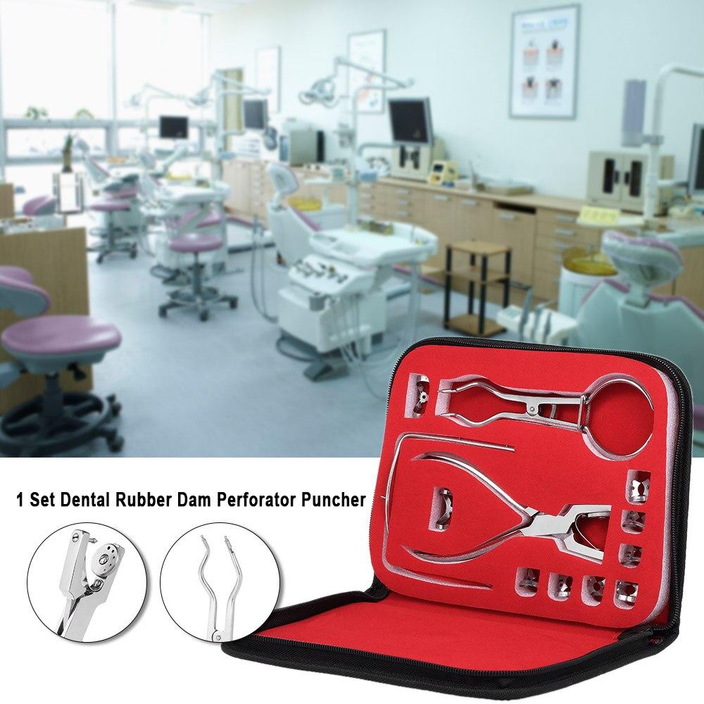 1 Set dentaire en caoutchouc barrage perforateur perforateur dents soins pinces matériel orthodontique dentiste laboratoire dispositif Instrument équipement sac