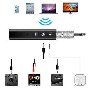 Image 5 - Bluetooth מקלט אודיו 4.1 סטריאו דיבורית לרכב משדר אלחוטי מתאם A2DP AUX 3.5mm מוסיקה מקלטים עבור אוזניות