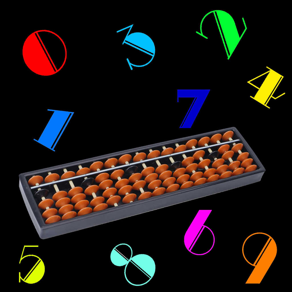 พลาสติก Abacus 15 หลักเครื่องมือเลขคณิตเด็กคณิตศาสตร์เรียนรู้ Aid Caculating ของเล่น