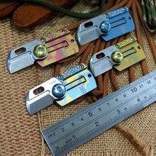 Lo nuevo de La Moneda de la Etiqueta de Perro Carpeta Cuchillo cuchillo de la Supervivencia que acampa Cuchillos M390 hoja mango de titanio EDC táctico de la caza al aire libre herramienta