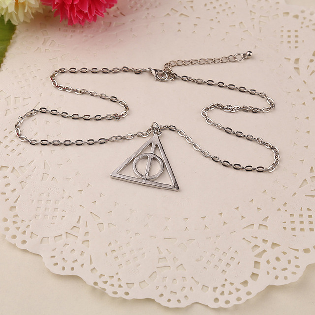 Harry Potter Triangle Pendant Unisex Round Necklace