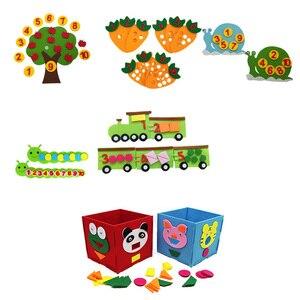 Math Toys Montessori Educational Toy Nonwoven Children's Puzzle Handmade DIY Creative Kindergarten Carrot Match Digital Teaching