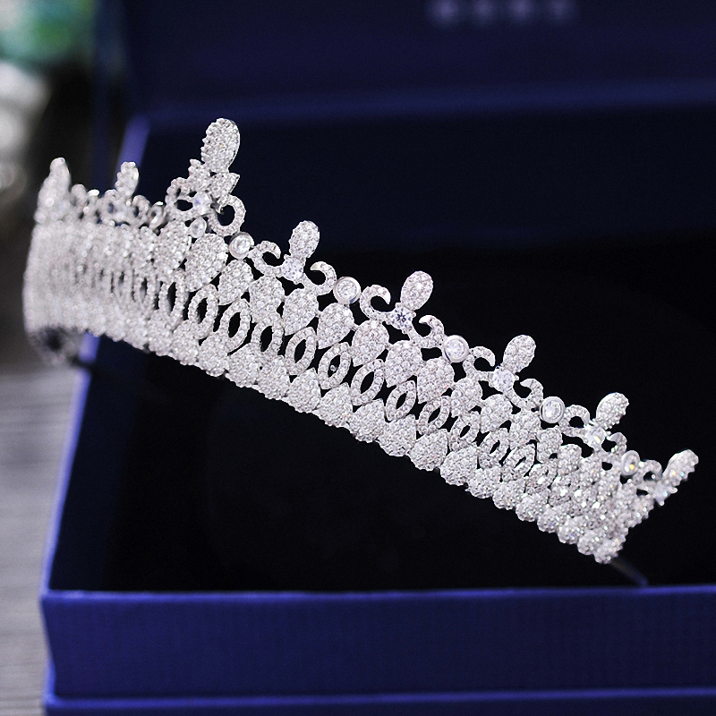 New Vintage Wedding Bridal  Crown Tiara Luxury Royal Custom Crown Ziron Brides Coronet Hairband Bridal Hair Jewelry
