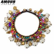 Ножные браслеты amourjoux Женские многослойные анклеты на лодыжку