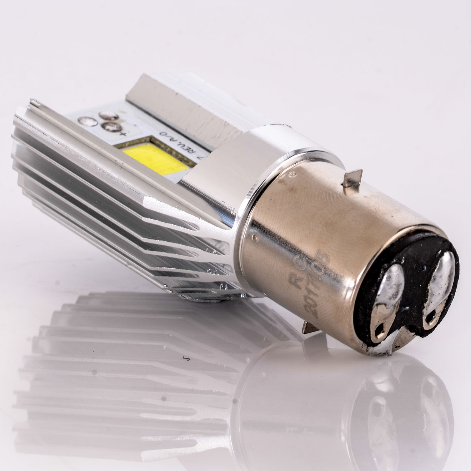 1PC DC 6V-80V White H6 BA20D 12W COB LED Motorcycle Hi//Lo Beam Headlight Bulb