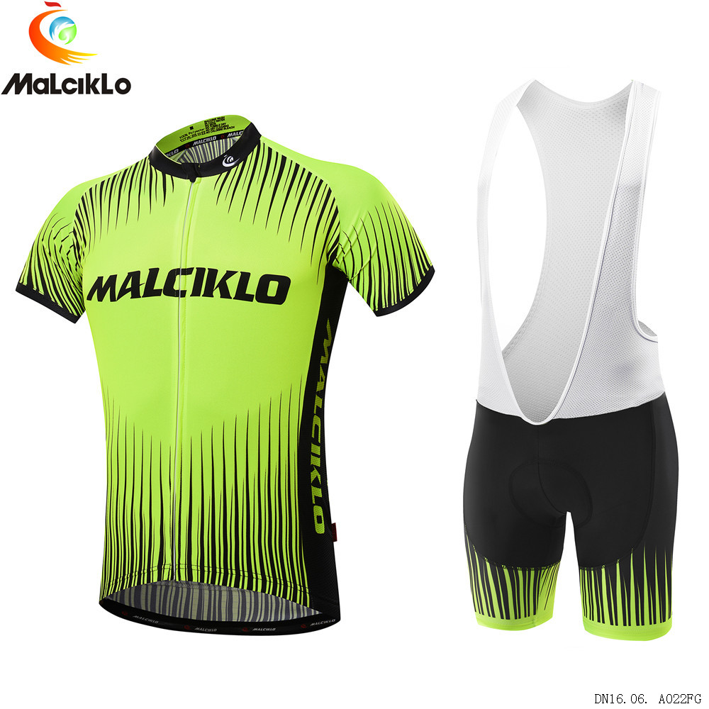 ac81b5d6ba Malciklo Brand 2016 High Quality Newest Pro Fabric Cycling Jerseys Wear  Short Set Bike Clothing Fluorescent Green - us40