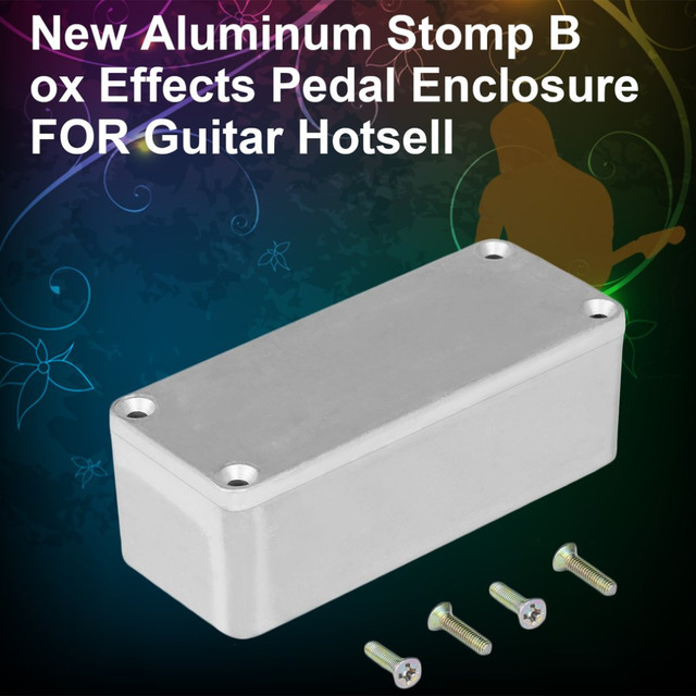 1726f97169 1Pcs Aluminum Stomp Box Effects 1590A Style Pedal Enclosure For Guitar Sell  Musical Instruments Kit Cases