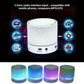 Wireless Portable Bluetooth Mini Speaker LED Light portatil Speaker music center notebook speaker for PC mobile phone handsfree
