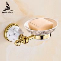 New Golden Finish Brass Soap Basket Soap Dish Soap Holder Bathroom Accessories Bathroom Furniture Toilet Vanity