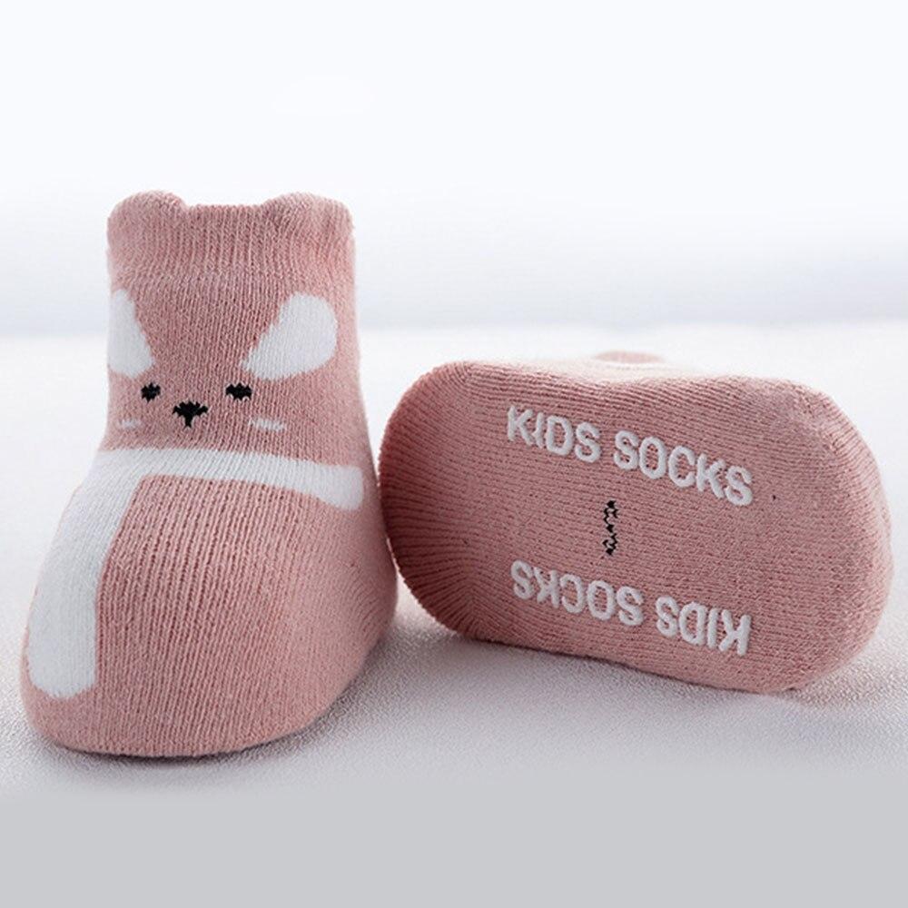 0-3years Baby Socken 3 Paar Weiche Socken Neugeborenen Kleinkind Baumwolle Dicke Lose Mund Cartoon Herbst Winter Neugeborenen Indoor Boden Socke